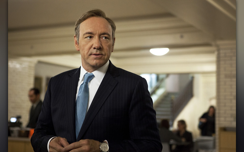 This image released by Netflix shows Kevin Spacey as U.S. Congressman Frank Underwood in a scene from the Netflix original se