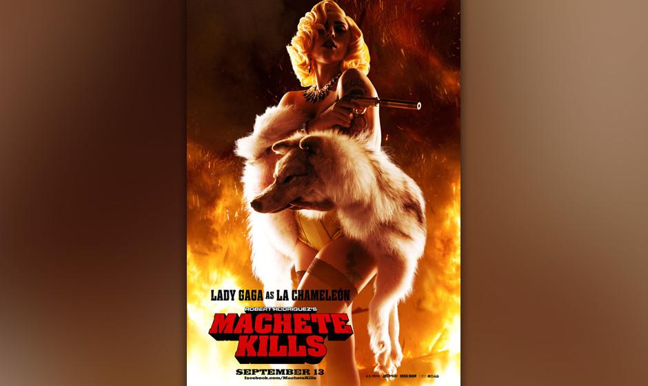 Lady Gaga als 'La Chameleón' in 'Machete Kills'.
