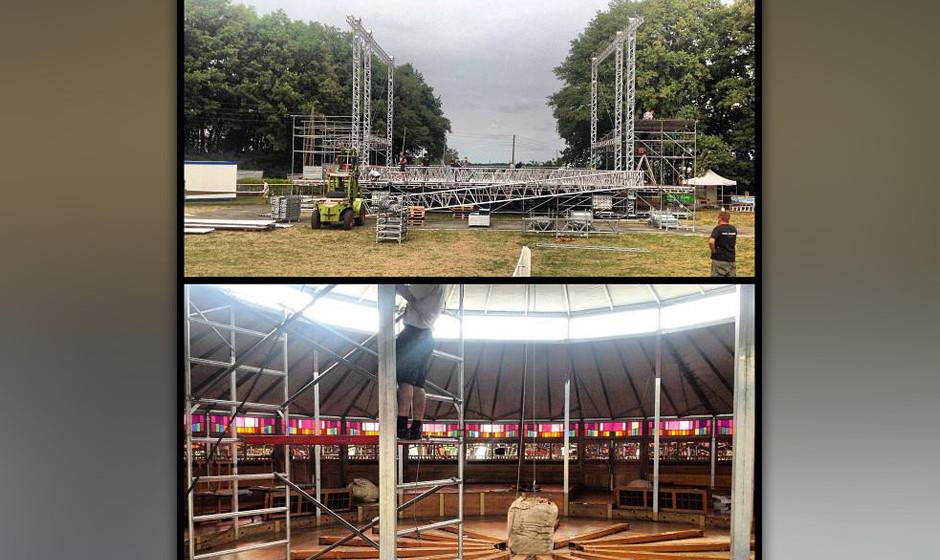 Der Aufbau beim Haldern Pop 2013