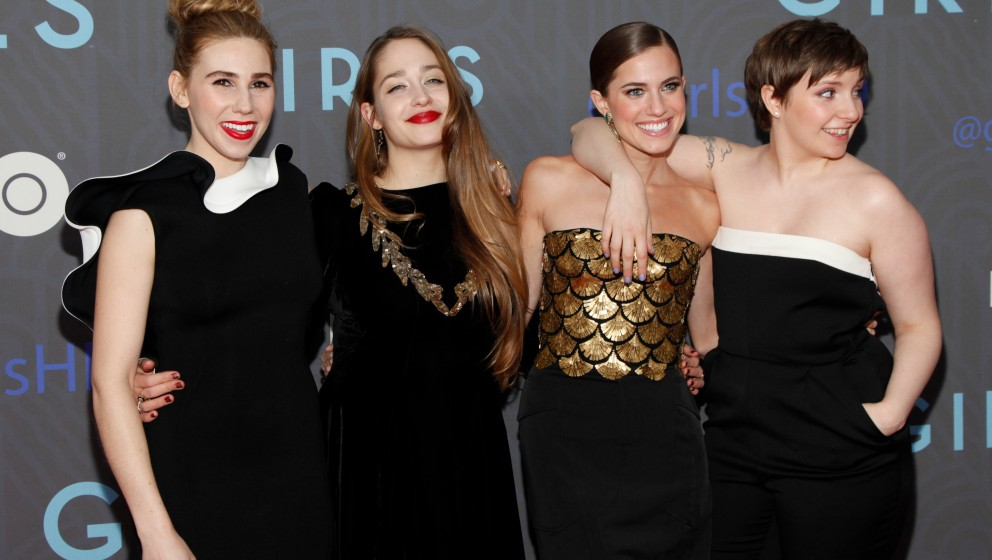 NEW YORK, NY - JANUARY 09:  (L-R) Actresses Zosia Mamet, Jemima Kirke, Allison Williams and creator Lena Dunham attend HBO ho