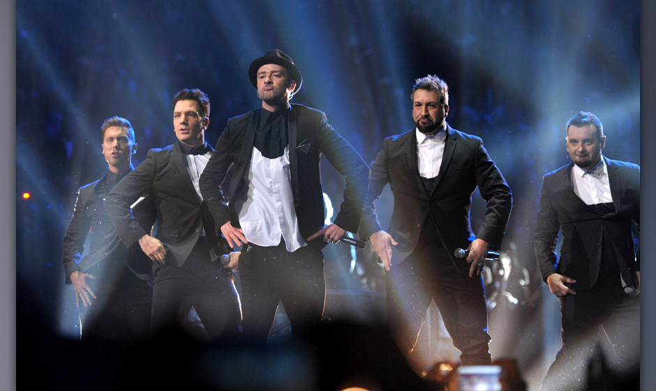This image released by MTV shows, from left, Lance Bass, JC Chasez, Justin Timberlake, Joey Fatone and Chris Kirkpatrick, of