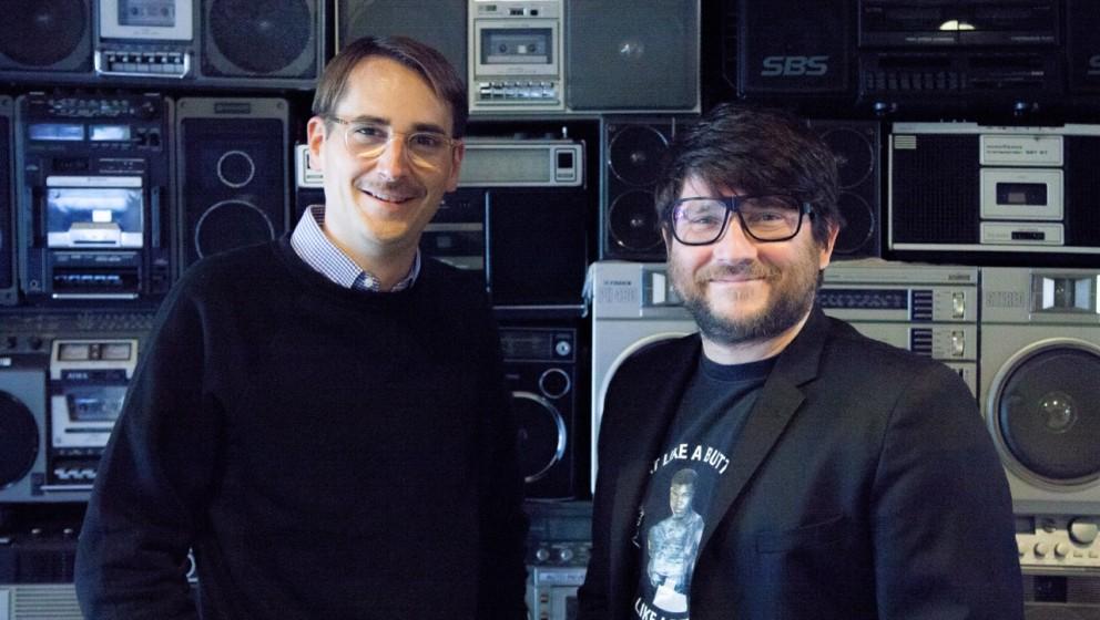 """BU: """"tape.tv könnte das neue MTV werden"""": Amen-Gründer Felix Petersen (l.), tape.tv-Gründer Conrad Fritzsch"""