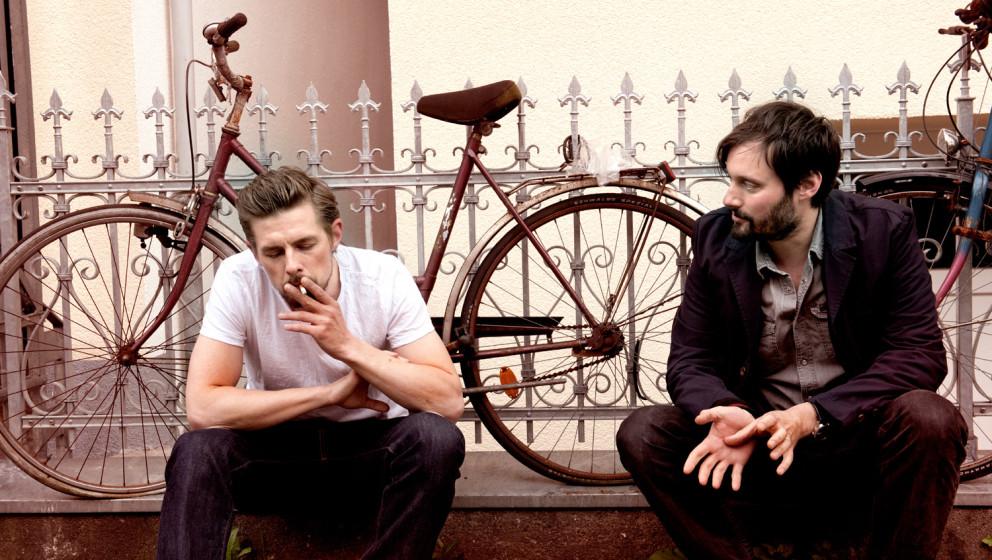 Klaas Heufer-Umlauf und Mark Tavassol. Beide machen jetzt unter den Namen Gloria gemeinsam Musik.