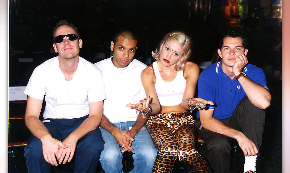 Eric Stefani, Tony Kanal, Gwen Stefani and Adrian Young of No Doubt (Photo by Jeff Kravitz/FilmMagic)