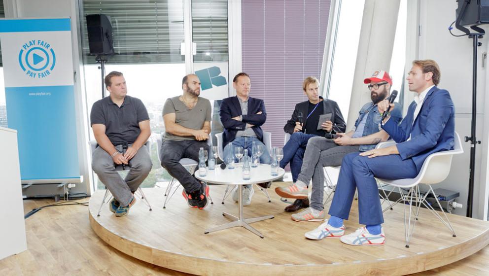 Musiker von Guano Apes und Jupiter Jones diskutieren mit Vertretern von Warner Musik, Spotify und des BVMI über Fairplay (Fo