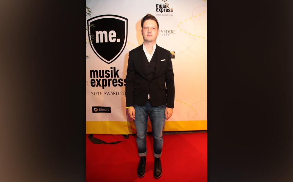 Konstantin Gropper auf dem Roten Teppich beim MUSIKEXPRESS STYLE AWARD 2013