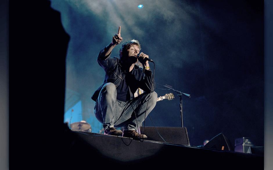 Damon Albarn, hier live beim Berlin Festival 2013, engagiert sich in Mali