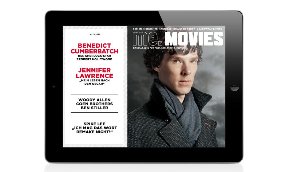 Die zweite Ausgabe ME.MOVIES - jetzt auch exklusiv für iPad im App Store erhältlich!