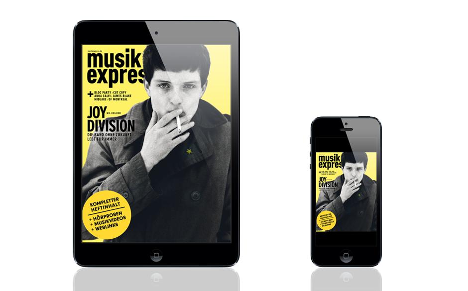 Die Dezember-Ausgabe des Musikexpress, auch im App Store erhältlich.