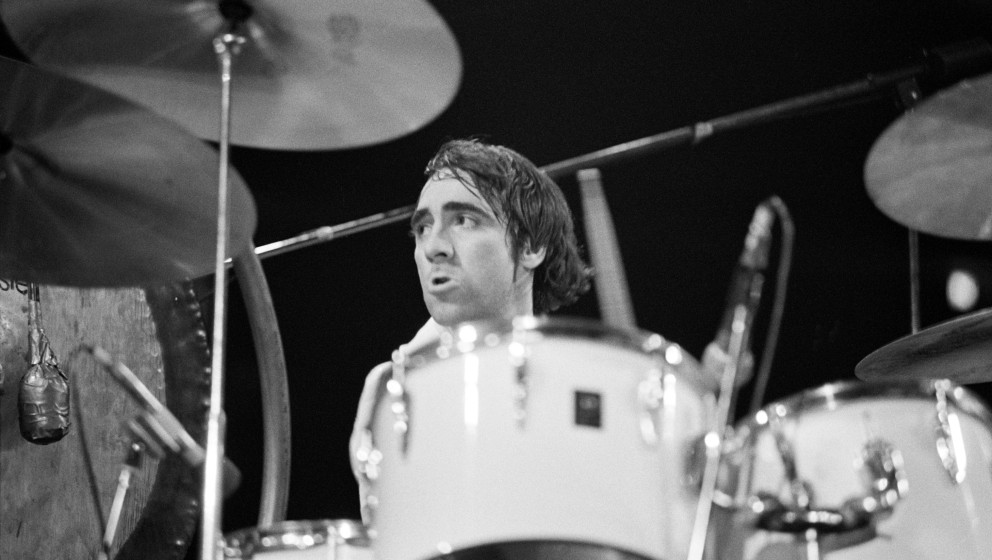 Keith Moon of The Who, performing onstage (Photo by Tom Hill/WireImage)