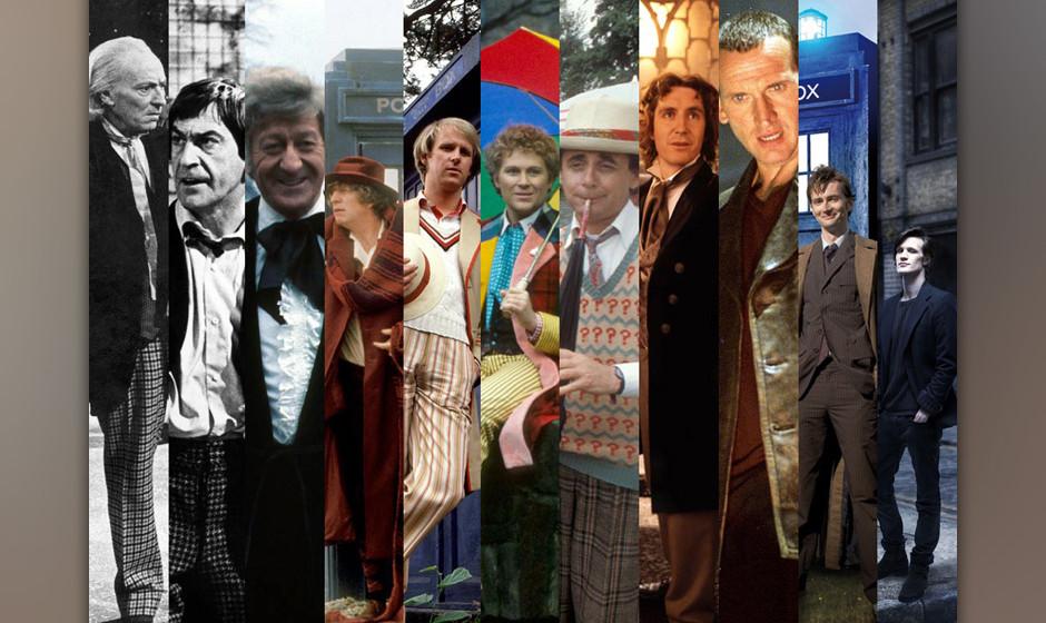 Alle bisherigen Doktoren aus 50 Jahren Seriengeschichte auf einen Blick.