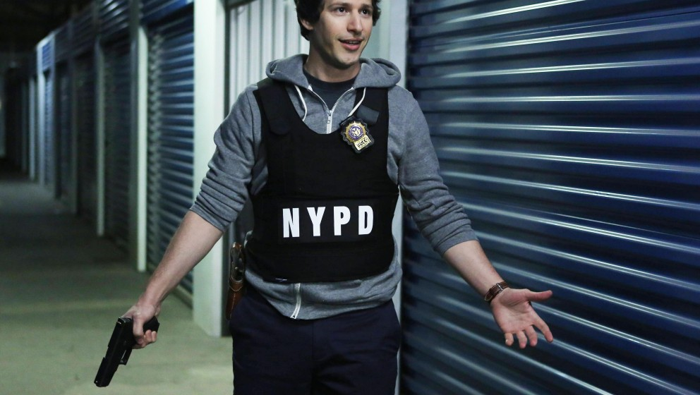 "BROOKLYN NINE-NINE: From Emmy Award-winning writer/producers of ""Parks and Recreation"" and starring Emmy Award winn"