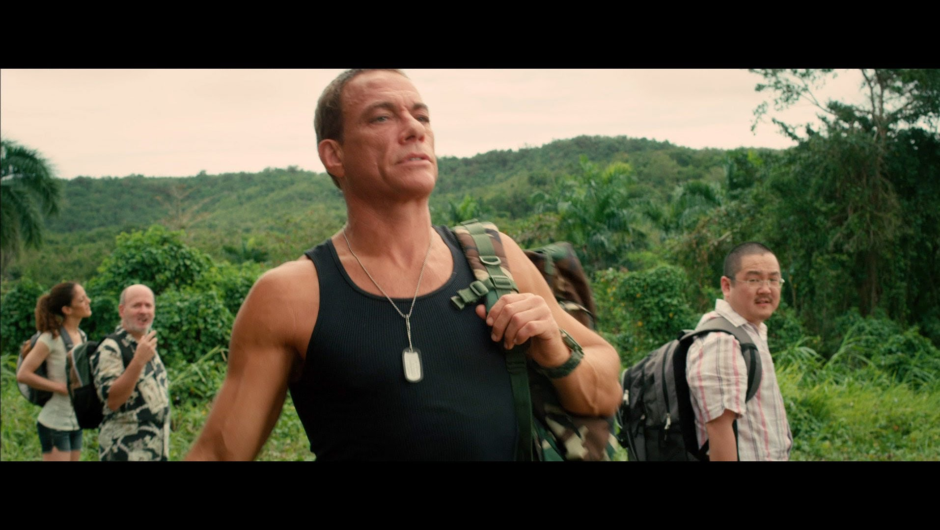 "Jean-Claude Van Damme in ""Welcome To The Jungle"""