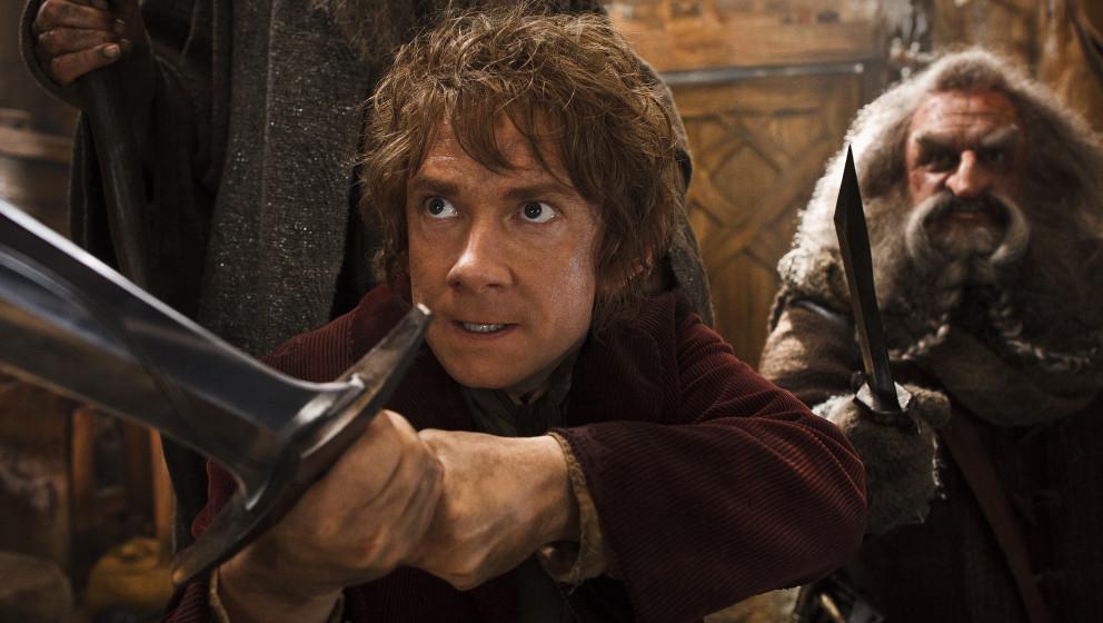 Hat die Finger mal am Schwert anstatt in der Luft: Martin Freeman als Bilbo Beutlin