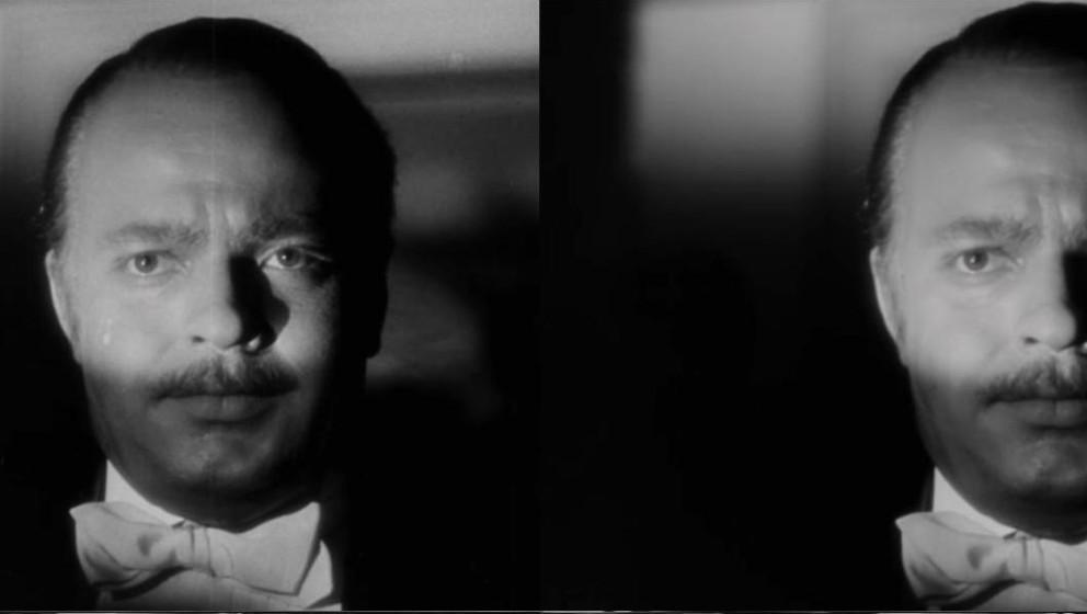 """Original und """"Fälschung: Orson Welles vor und nach der 2K-Abtastung."""