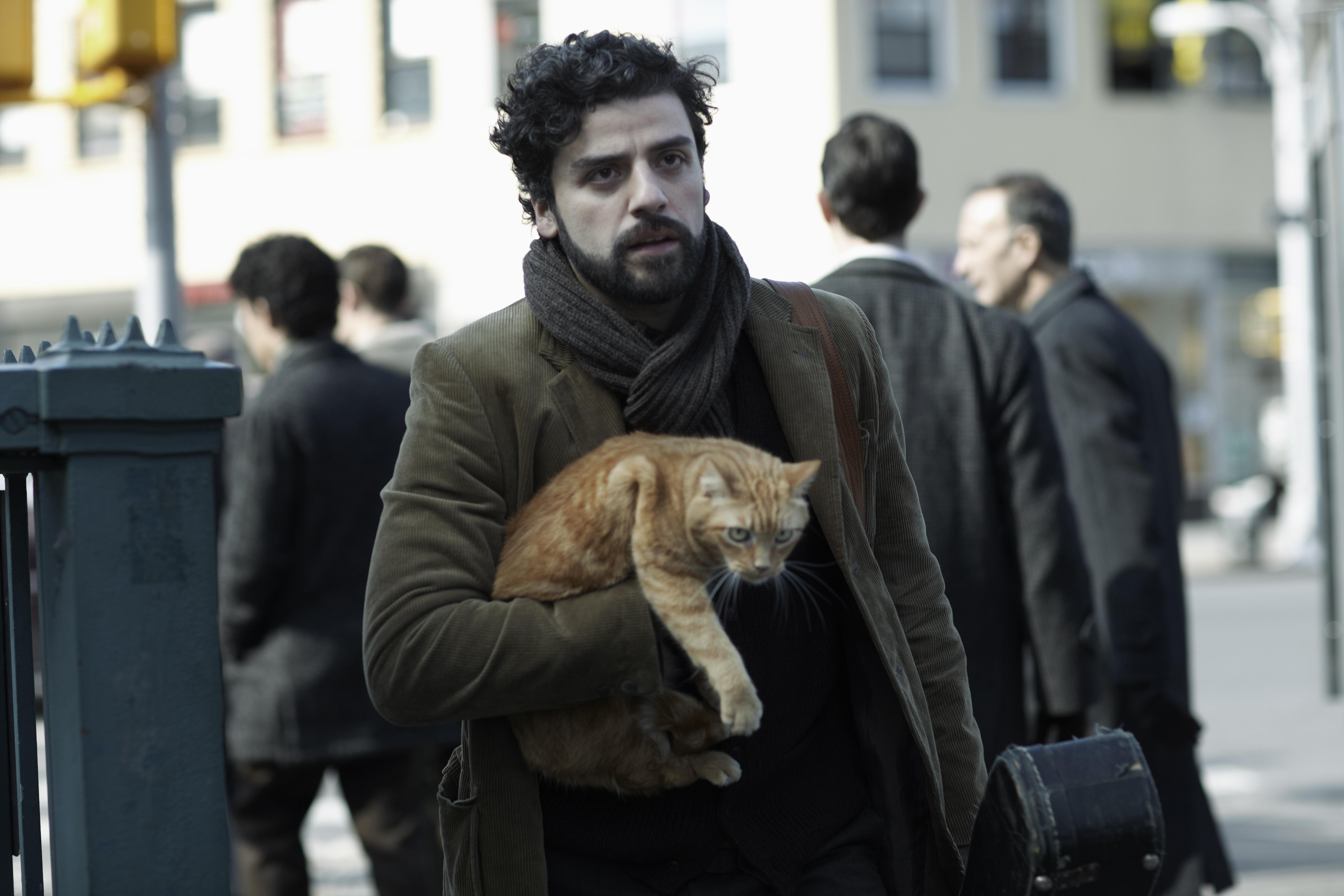 Zwei auf der Suche: Llewyn Davis (Oscar Isaac) und die rote Katze.