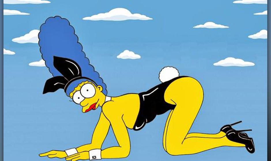 Marge Simpson schlüpft in die Rolle von Kate Moss als Playboy-Bunny.