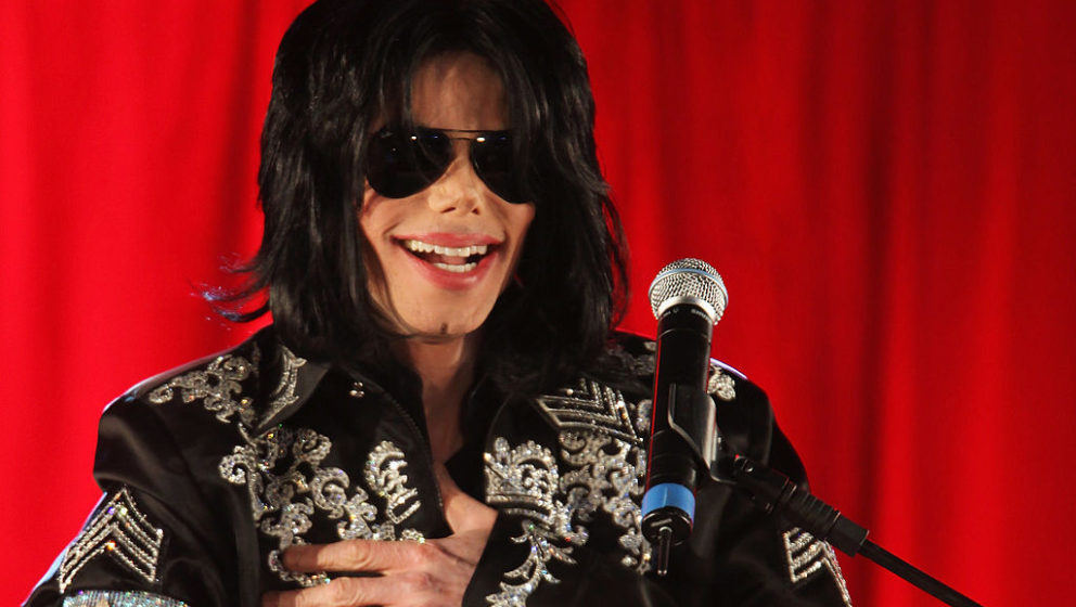 LONDON - MARCH 05:  Michael Jackson announces plans for Summer residency at the O2 Arena at a press conference held at the O2