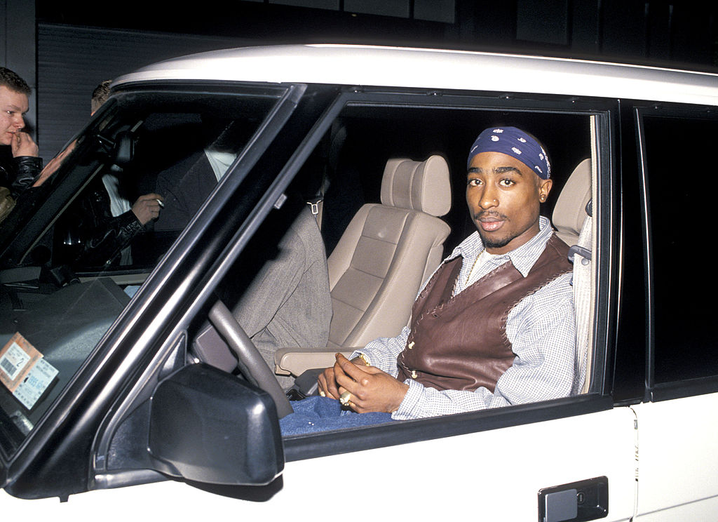 Tupac Shakur during Party For Cowboy Noir Thriller 'Red Rock West' at Club USA in New York City, New York, United States. (Ph