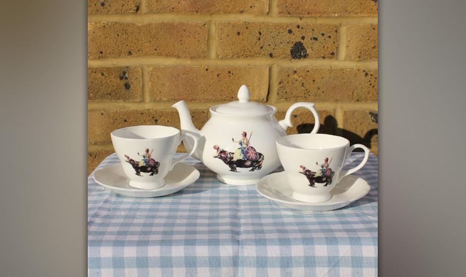 Gediegen Tee trinken mit der Lieblingsband - das geht mit Blurs Teeservice.