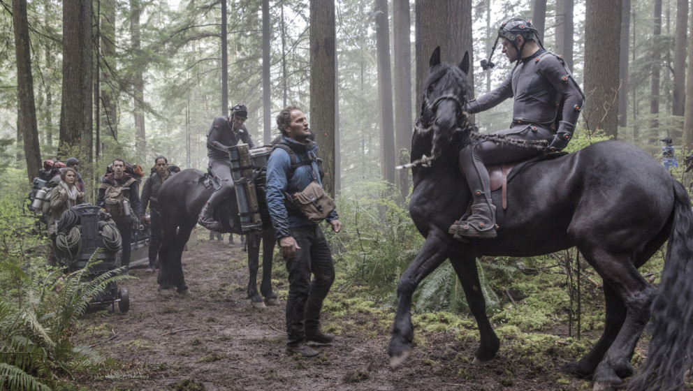 """Andy Serkis bei den Dreharbeiten zu """"Planet der Affen: Revolution"""""""