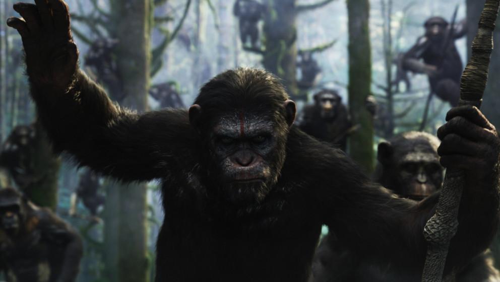Signal zum Angriff: Caesar (Andy Serkis) und seine ganze Affenbande