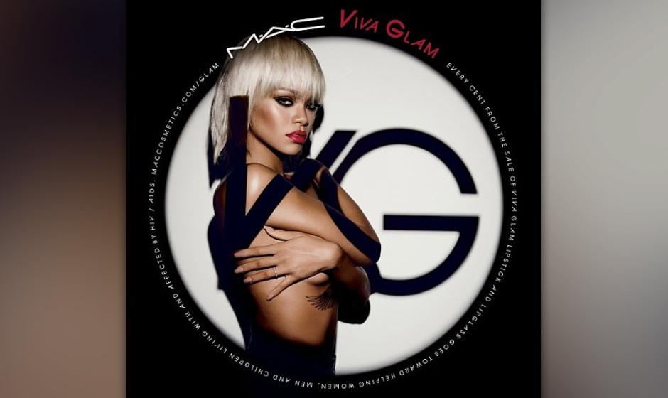 Rihanna wirbt für die Charity-Kollektion eines Kosmetikherstellers.