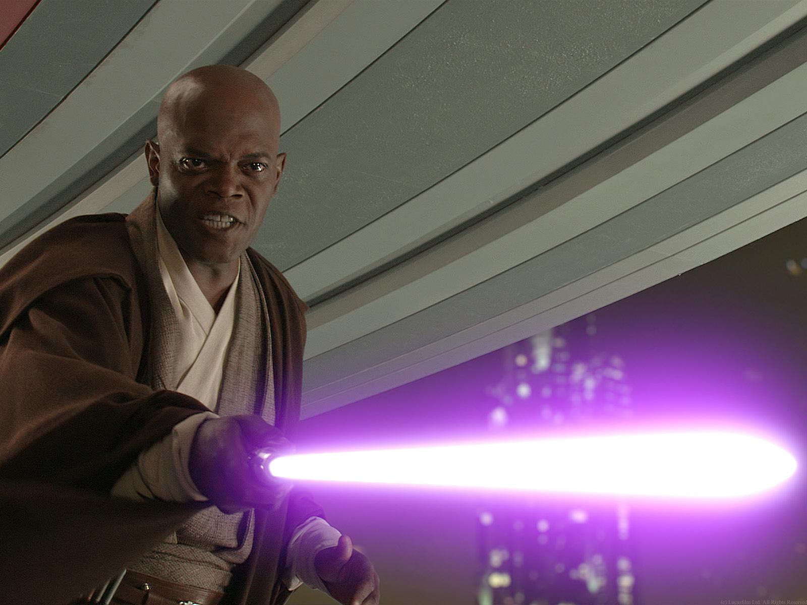 Hier hätte auch Tupac kämpfen können: Samuel L. Jackson als Mace Windu in 'Star Wars'