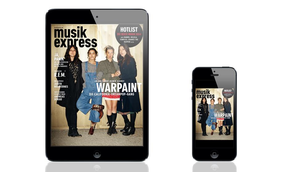 So sieht der neue Musikexpress und die App aus