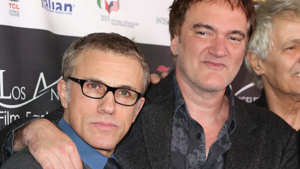 LOS ANGELES, CA - FEBRUARY 19:  Actor Christoph Waltz (L) and Director Quentin Tarantino (R) attend the 8th Annual Los Angele