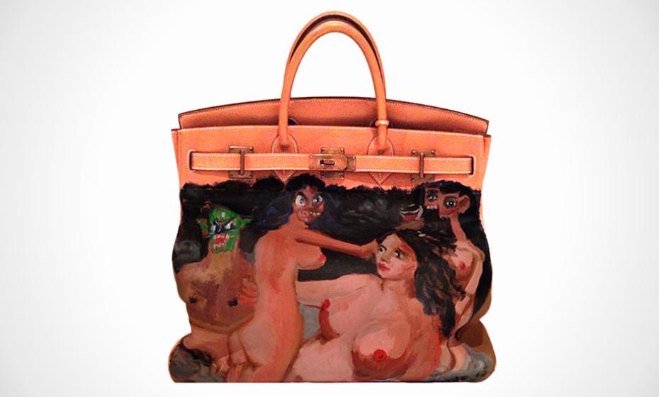 Dank George Condo und Kanye West hat Kim Kardashian eine neue Birkin Bag nur für sie.
