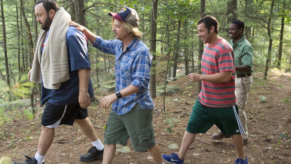 Eric Lamonsoff (Kevin James), Marcus Higgins (David Spade), Lenny Feder (Adam Sandler) and Kurt McKenzie (Chris Rock) going t