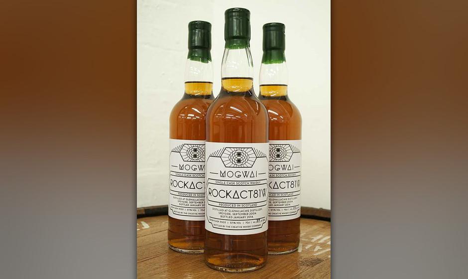 Mogwais Whiskey namens 'RockAct81w' ist jetzt käuflich zu erwerben.