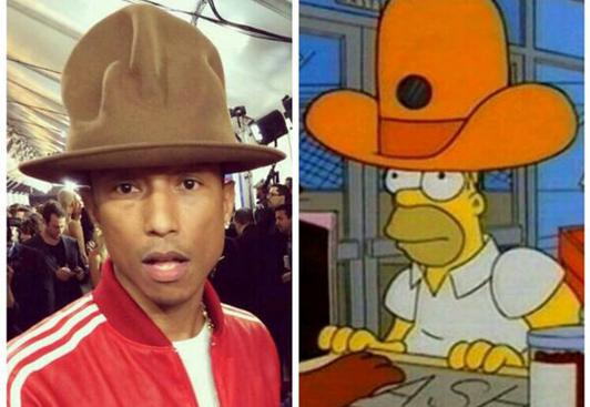 Pharrell Williams' Hut bei den Grammys 2014 spornte einige Hobby-Photoshopper an.