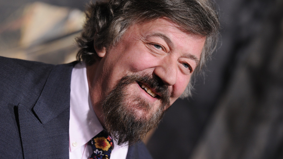 HOLLYWOOD, CA - DECEMBER 02:  Actor Stephen Fry attends the premiere of 'The Hobbit: The Desolation Of Smaug' at TCL Chinese