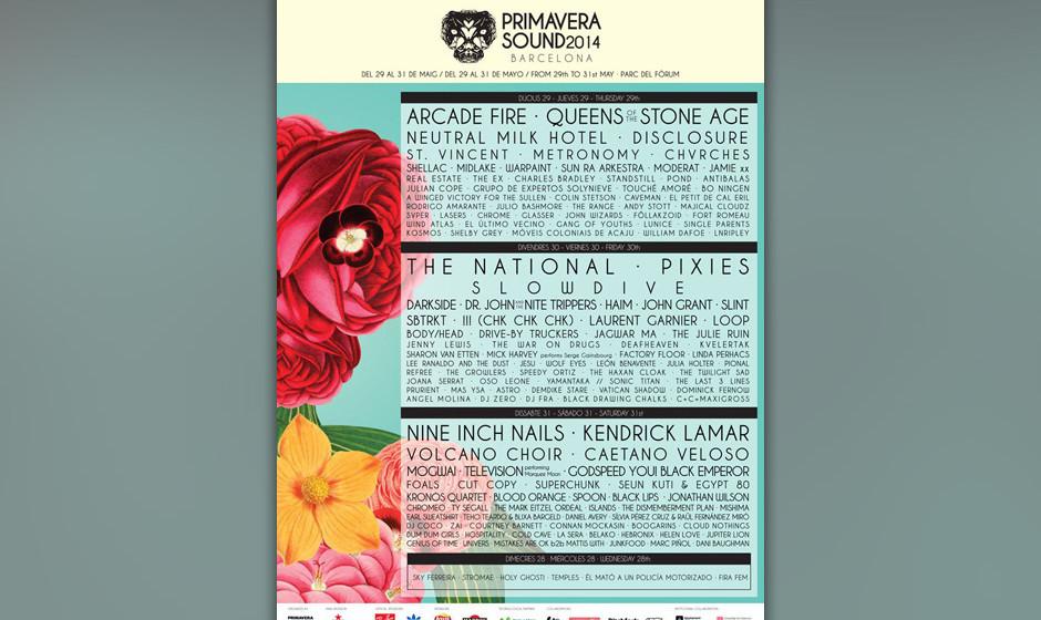 'Primavera Sound 2014' - hier das bisherige Line-up: