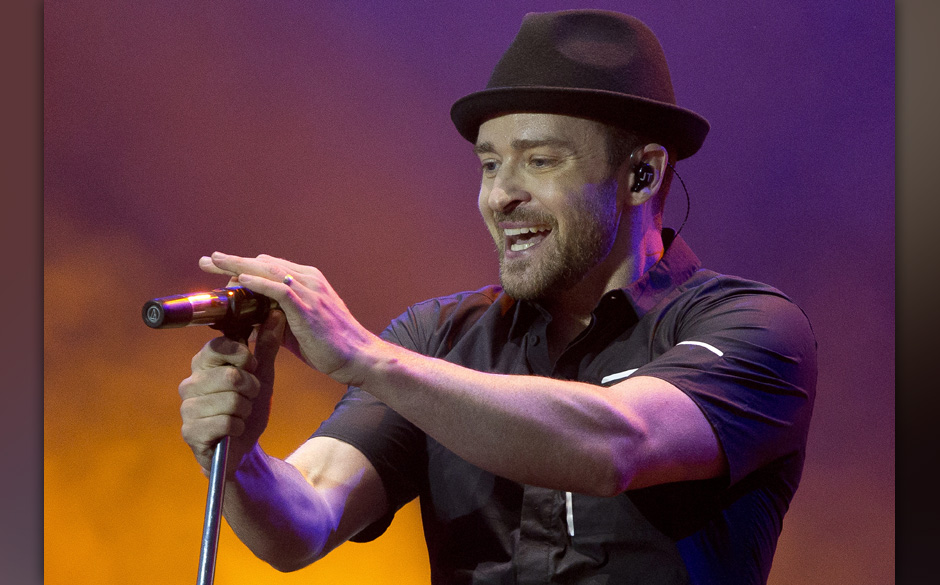FILE - In this July 12, 2013, file photo, Justin Timberlake performs during the Wireless Festival at the Queen Elizabeth Olym