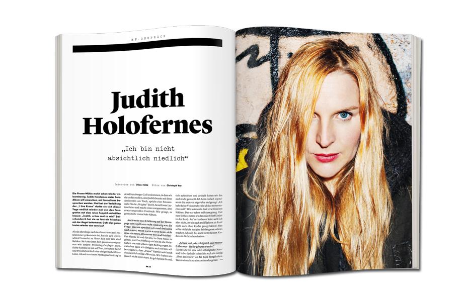 Judith Holofernes im Musikexpress 2/2014. Lest hier, welche Motivation hinter ihrem Song 'Nichtsnutz' steckt.
