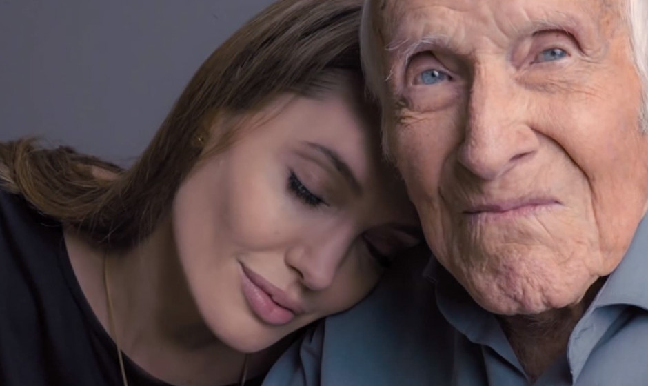 Regisseurin Angelina Jolie mit dem 96-jährigen Louis Zamperini