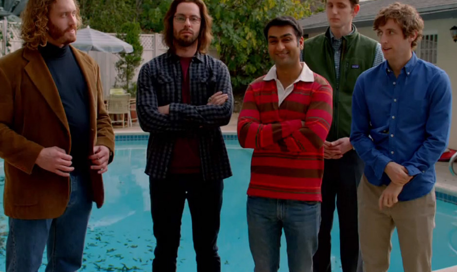Der Gönner und seine Hausgäste: T.J. Miller beherbergt Martin Starr, Kumail Nanjiani, Zach Woods und Thomas Middleditch