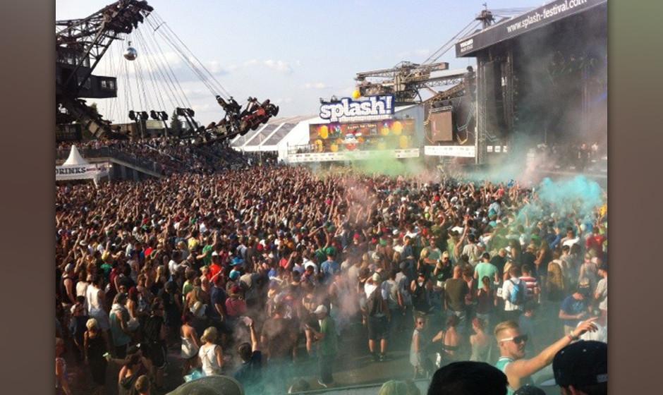 Beim 'Splash! Festival 2014' sind u.a. ...