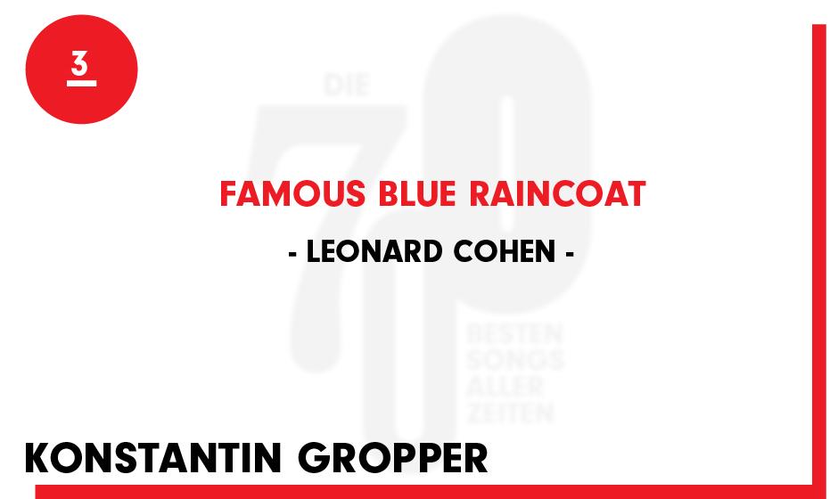 3. Leonard Cohen - 'Famous Blue Raincoat'