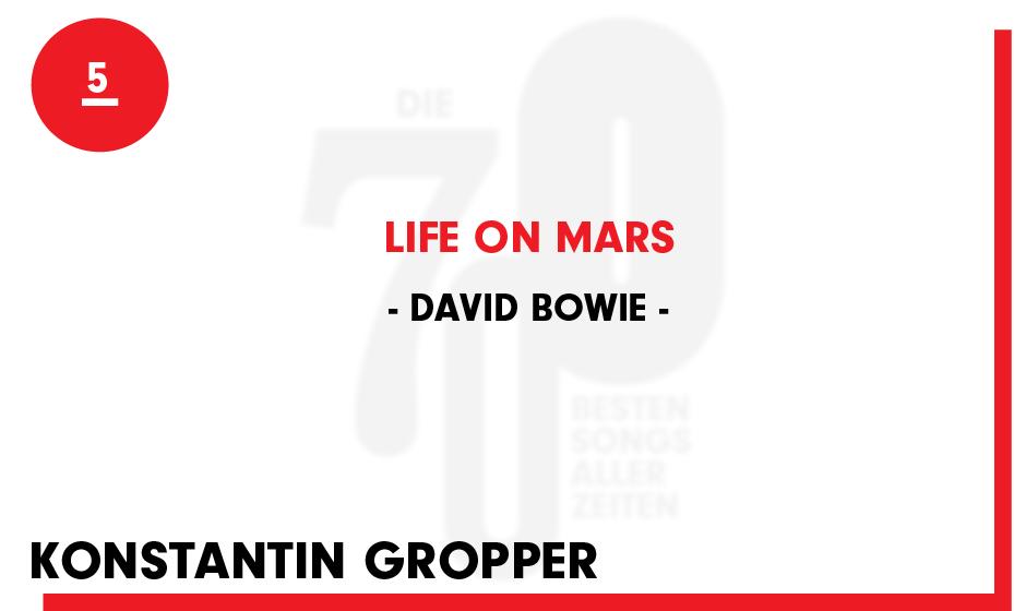 5. David Bowie - 'Life On Mars'