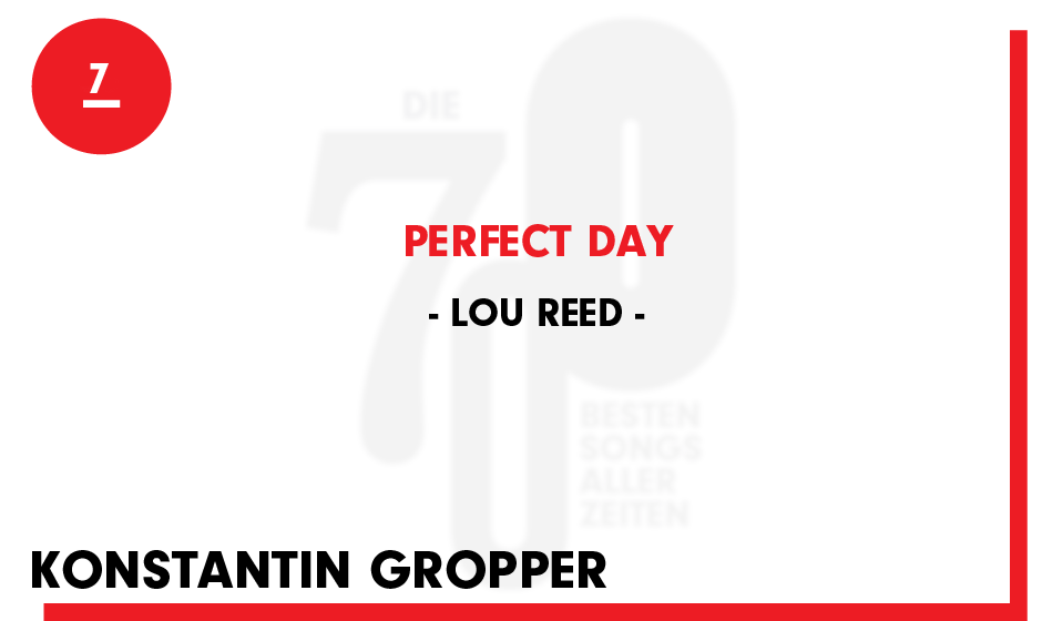 7. Lou Reed - 'Perfect Day'