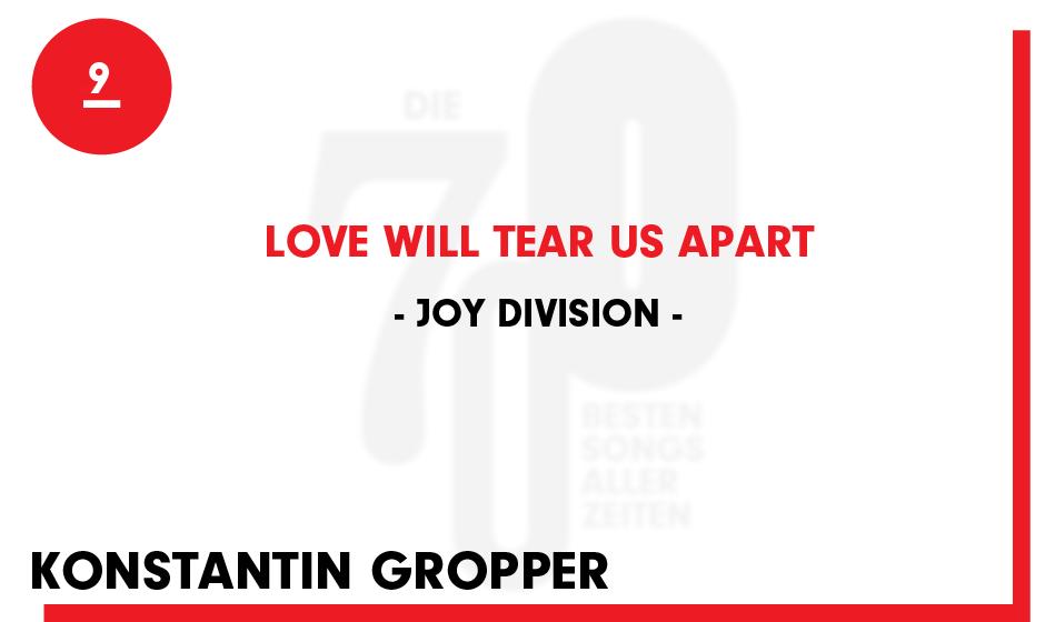 9. Joy Division - 'Love Will tear Us Apart'