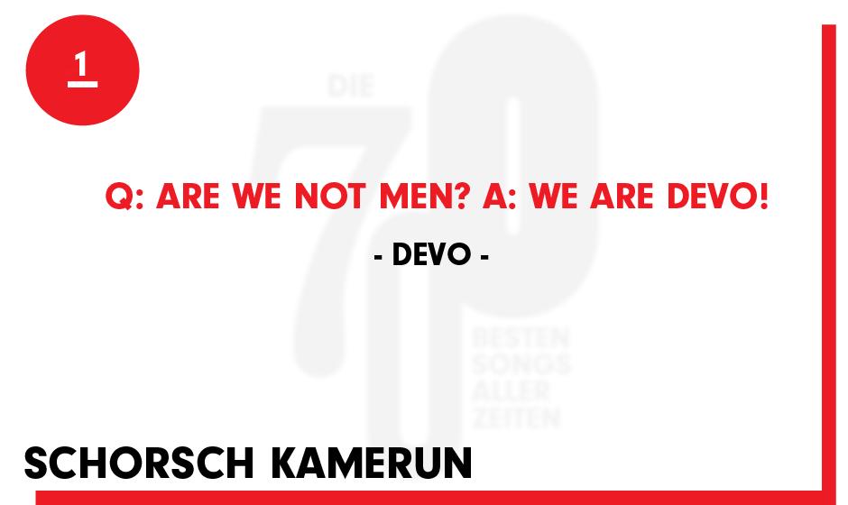 1. Devo - 'Q: Are We Not Men? A: We Are Devo!'
