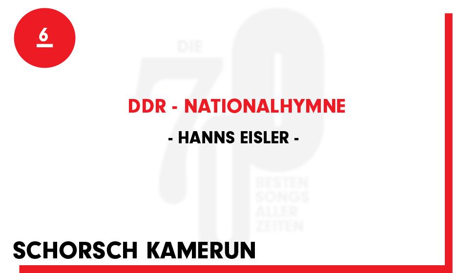 6. Hanns Eisler - 'DDR - Nationalhymne'