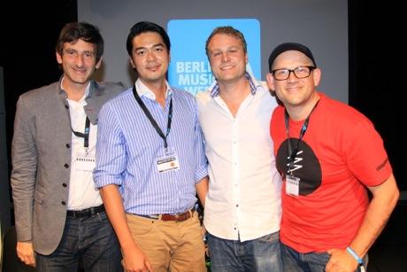 Andy Chen (2.v.l.) ist Chef des Streamingdienstes WIMP.