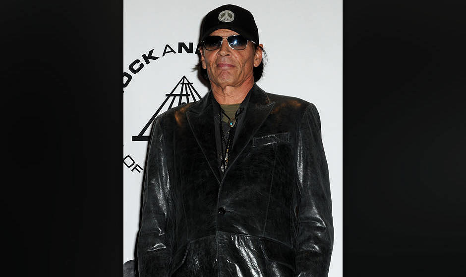 Inductee Scott Asheton of The Stooges attends the 25th Annual Rock And Roll Hall Of Fame Induction Ceremony at the Waldorf=As
