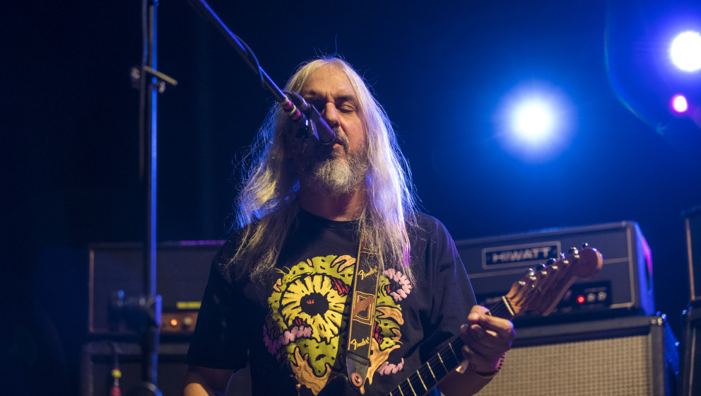 AUSTIN, TX - NOVEMBER 07:  J Mascis of Dinosaur Jr performs in concert during Day 1 of Fun Fun Fun Fest at Auditorium Shores